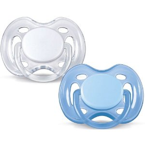 Chupeta Freeflow Double Pack Branca e Azul 0-6m - Philips Avent