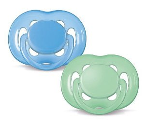 Chupeta Freeflow Double Pack Azul e Verde 6-18m - Philips Avent