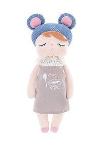 Boneca Metoo Dolls Angela Doceira Retro Bear Azul 33cm