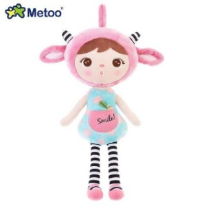 Boneca Metoo Jimbao Duende Sorriso Rosa 46cm