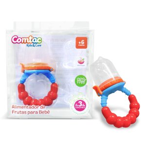 Alimentador Silicone de Frutas para Bebê - Comtac Kids