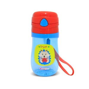 Copo Plástico com Canudo Let's Go Porco Espinho - Comtac Kids
