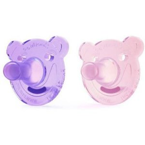 Chupeta ursinho Soothie Avent 0-3 meses rosa e lilás - com 2 unidades