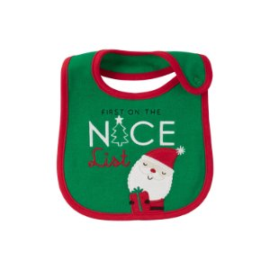 Babador em malha dupla face Papai Noel Just one You made by CARTERS