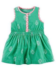 Vestido verde com tapa fralda - CARTERS