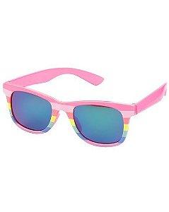 Óculos de sol 0-24 meses rosa e colorido proteção 100% UVA/UVB - CARTERS