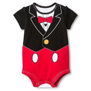 Body em malha estampa Mickey - Disney