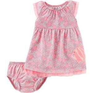 Vestido rosa florido Peixinho Child of Mine made by CARTERS