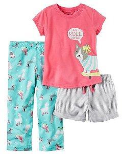 Conjunto pijama 3 peças Cachorrinhas - CARTERS