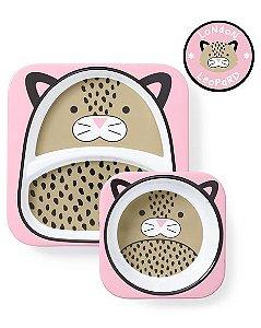 Conjunto de prato e tigela Leopardo - SKIP HOP