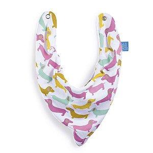 Babador bandana cachorrinhos coloridos - MULTIKIDS BABY