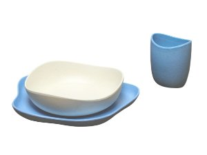 Kit Alimentação Fibra de Bambu Azul - BECOTHINGS