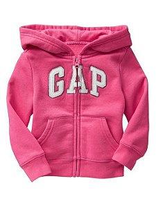 Casaco moletom flanelado com capuz Pink - GAP