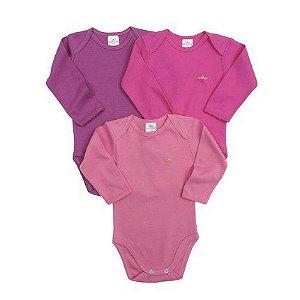 Kit body 3 peças rosa e roxo - BEST CLUB