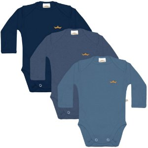 Kit body 3 peças azul liso - BEST CLUB