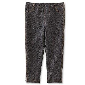 Calça legging imita jeans preto - WONDERS