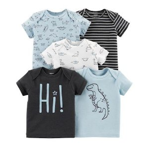 Kit 5 camisetas Bichinhos e Dinossauros - CARTERS