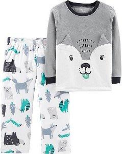 Conjunto pijama 2 peças em fleece Raposa - CARTERS