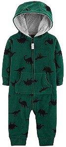 Macacão em fleece verde Dinossauros - CARTERS
