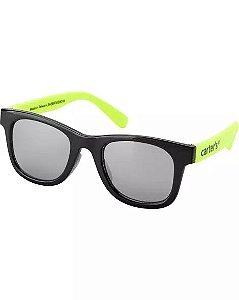 Óculos de sol 0-24 meses preto e neon 100% UVA/UVB - CARTERS