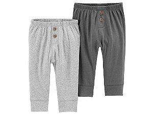 Conjunto 2 calças saruel cinza em malha - CARTERS