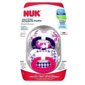 Chupeta decorada com 2 unidades 0-6 meses - NUK