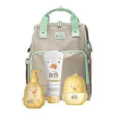 Combo Boti Baby Maternidade: Mochila + Colônia do Sol + Sabonete Líquido + Loção Hidratante - BOTICÁRIO