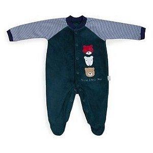 Macacão plush verde ursos - Keko Baby