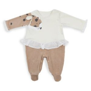 Macacão Bordado onça manga - Keko Baby