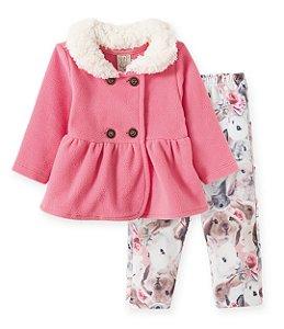 Conjunto casaco soft calça malha térmica - Pingo Lelê