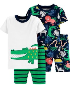 Kit pijama 4 peças selva - Carter's