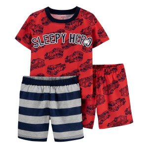 Kit pijama 3 peças bombeiro - Carter's