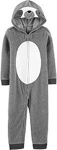 Macacão em fleece Preguiça cinza - CARTERS