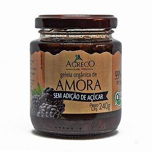 Geléia orgânica de amora sem açúcar Agreco - 240g