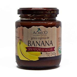 Geléia orgânica de banana sem açúcar Agreco - 240g