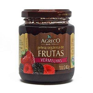 Geléia orgânica de frutas vermelhas Agreco - 240g