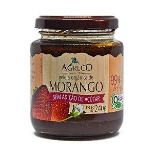 Geléia orgânica de morango sem açúcar Agreco - 240g