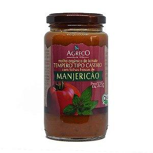 Molho de tomate orgânico com manjericão Agreco - 325g