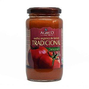 Molho de tomate tradicional orgânico Agreco - 325g