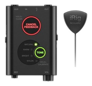 Captador Interface Violão Irig Acoustic iPhone Android PC