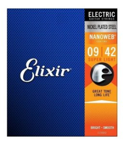 ENCORDOAMENTO GUITARRA ELIXIR 0.09-042 SUPER LIGHT 12002