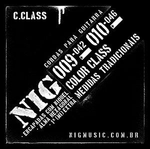 ENCORDOAMENTO GUITARRA NIG 0.09-042 COLOR CLASS N1630 PRETA