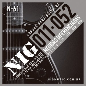 ENCORDOAMENTO GUITARRA NIG 0.11-052 N-61