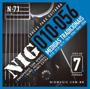 Encordoamento Guitarra Nig 0.10-056 N-71