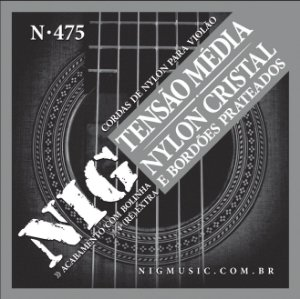 Encordoamento Violão Nylon Nig Tensão Média N475 c/ Bolinha