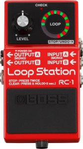 PEDAL DE GUITARRA BOSS RC-1 LOOP STATION RED