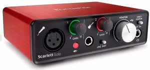 INTERFACE AUDIO FOCUSRITE SCARLETT SOLO 2 GER 2 ANOS GARANTIA