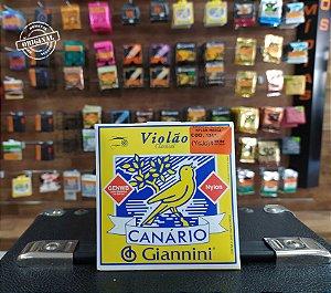 ENCORDOAMENTO VIOLÃO GIANNINI CANÁRIO NYLON MEDIA C/ BOLINHA