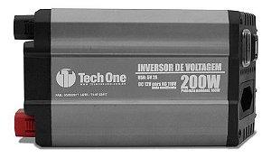 INVERSOR DE VOLTAGEM TECH ONE 200W 12V PARA 110V