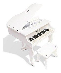 PIANO CAUDA INFANTIL TURBINHO PIANO 30 WHT 30 TECLAS BRANCO